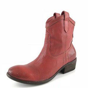 Frye Carson Shortie Booties Western Red Pull on